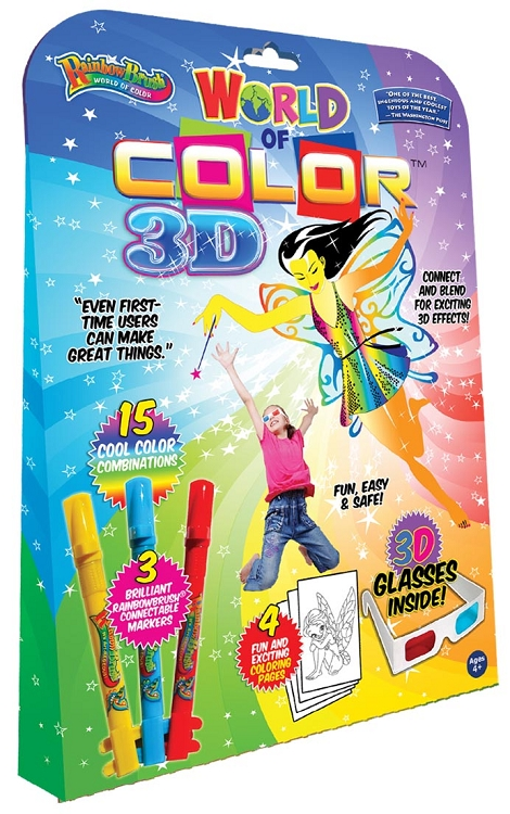 3D Fairies Kit with 3 RainbowBrush markers and 3D glasses