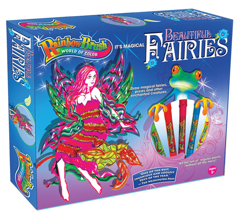 Beautiful Fairies Activity Kit with 5 RainbowBrush markers,