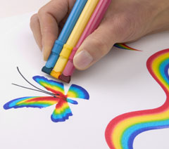 Rainbow art - fun and educational toys for every age, kids toys, activity books for hobby toy and discovery toy