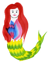 RainbowBrush mermaid